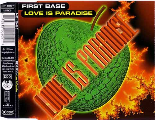 First Base ‎– Love Is Paradise (CD Maxi Single) usado (VG+) box 4