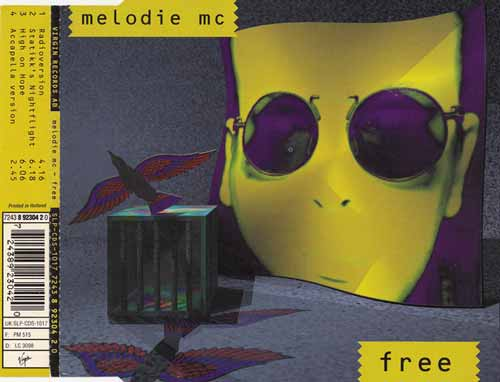 Melodie MC ‎– Free (CD Maxi Single) usado (VG ) box 7