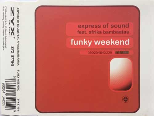 Express Of Sound Feat. Afrika Bambaataa ‎– Funky Weekend (CD Maxi Single) usado (VG+) box 1