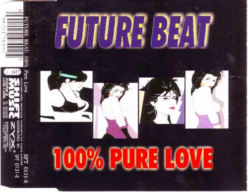 Future Beat ‎– 100% Pure Love (CD Maxi Single) usado (VG+) box 7
