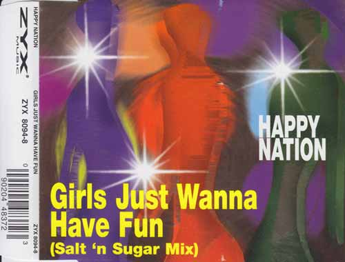 Happy Nation ‎– Girls Just Wanna Have Fun (CD Maxi Single) usado (VG+) maleta