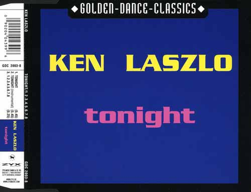 Ken Laszlo ‎– Tonight / 1.2.3.4.5.6.7.8 (CD Maxi Single) usado (VG+) box 4
