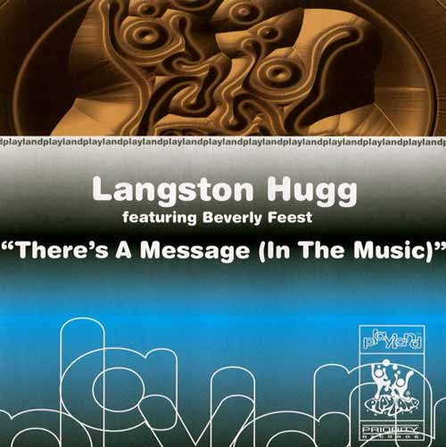 Langston Hugg ‎– There's A Message (In The Music) (CD Single) usado (VG+)box 1