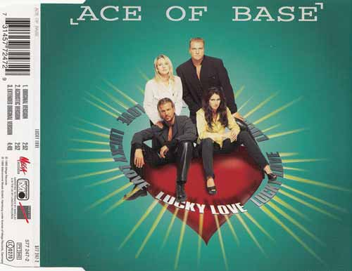 Ace Of Base ‎– Lucky Love (CD Maxi Single) usado (VG+) maleta