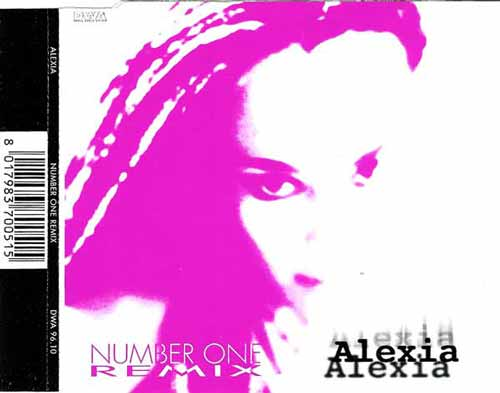 Alexia ‎– Number One (Remix) (CD Maxi Single) usado (VG+) box 1