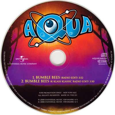 Aqua ‎– Bumble Bees (CD Maxi Single Promo) usado (VG+) maleta 2