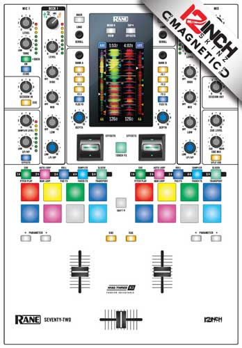 Rane Seventy-Two Skinz - COLORS White Magnetic Face & Chassis