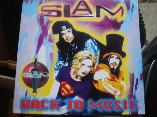 Slam ‎– Back To Music (CD Maxi Single cartón) usado (VG+) box 6