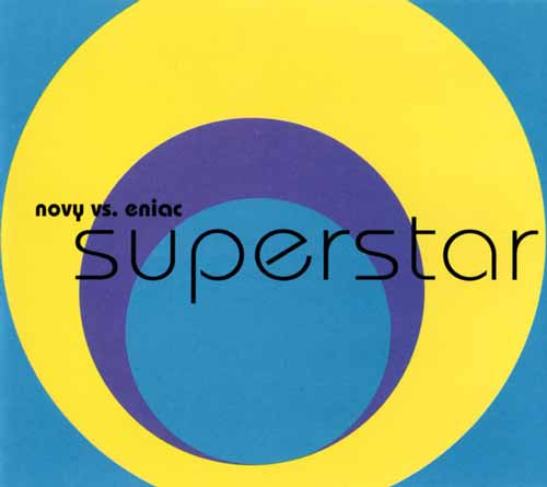 Novy vs. Eniac ‎– Superstar (CD Maxi Single) usado (VG+) box 1