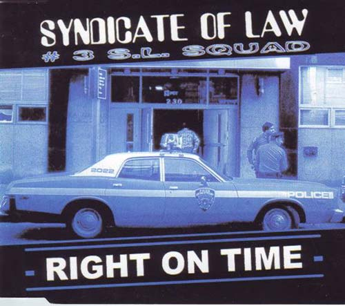 Syndicate Of Law ‎– Right On Time (CD Maxi Single usado) VG+ box 2