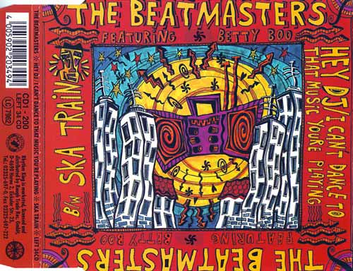 The Beatmasters Featuring Betty Boo ‎– Hey DJ / I Can't Dance (To That Music You're Playing) (CD Maxi Single Mini) usado (VG ) box 2