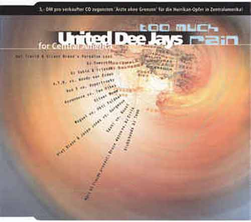 United Dee Jays For Central America ‎– Too Much Rain (CD Maxi Single) usado (VG+) box 7