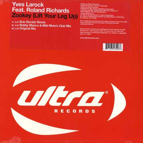Yves Larock ‎– Zookey (Lift Your Leg Up) (Vinilo usado) (VG+)