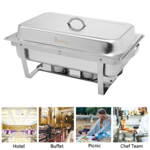 Single Basin Two Set Stainless Steel Rectangular Buffet Stove