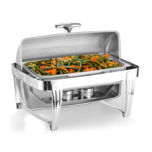 Stainless Steel High Grade Rectangular Clamshell Buffet Stove