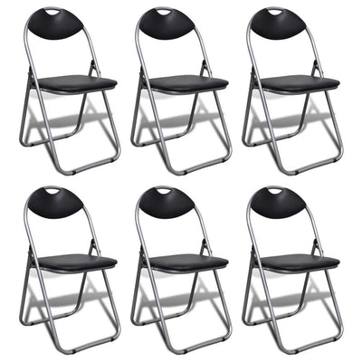Folding Chairs 6 pcs Faux Leather