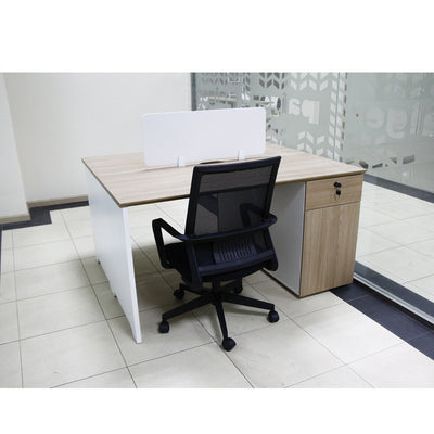 Melamine White Laptop Workstation
