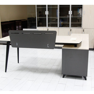 L Shape Office Desk with Side Table