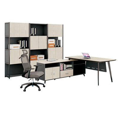 Custom l-Shaped Office Desktop