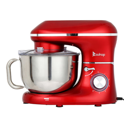 5.8QT 6 Speed Control Electric Stand Mixer with Stainless Steel Mixing Bowl Food Mixer Red