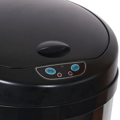 50L Round Inductive Touchless Full-automatic Fingerprint-resistant Garbage Trash Can Silver