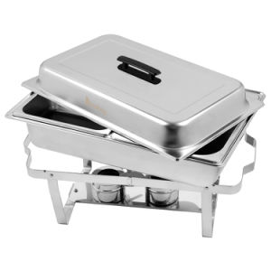 Stainless Steel Rectangular Buffet Stove
