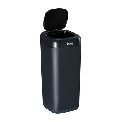 Automatic Touchless Infrared Motion Sensor Trash Can, 35L, Stainless Steel Base Black