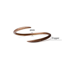 Load image into Gallery viewer, TERES. Self-Esteem Copper Bracelet