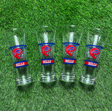 Load image into Gallery viewer, Vintage Buffalo Bills Glasses Set of 4
