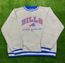 Load image into Gallery viewer, Vintage Buffalo Bills Embroidered Crewneck Size XXL