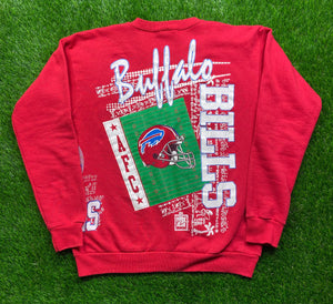 Vintage Buffalo Bills Double Sided Crewneck Size Large