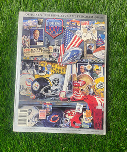 Vintage Buffalo Bills Super Bowl 25 Game Program