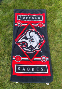 Vintage Buffalo Sabres Beach Towel