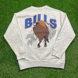 Vintage Double Sided Buffalo Bills Crewneck Size Medium