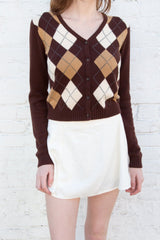 White Brown Argyle