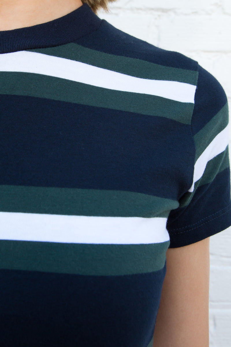 Stripe White Green Blue