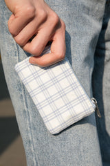 White Blue Plaid