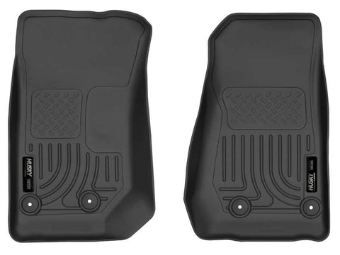 Jeep Wrangler (JK) Unlimited 75th Anniversary 2014-2018 - Black Front Floor Liners - Weatherbeater Series
