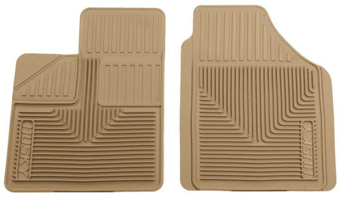 Dodge Caravan C/V 1984-2007 - Tan Front Floor Mats - Heavy Duty Floor Mat