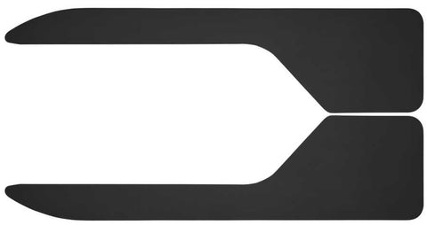 Ford F-150 King Ranch Standard Side Bed1988-2020 - Black Long John Flare Flaps 12in. Wide-36in. Length - Mud Flaps
