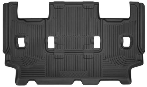 Ford Expedition EL XL 2012-2017 - Black 3rd Seat Floor Liner - Weatherbeater Series