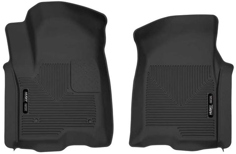 GMC Sierra 1500 Elevation Extended Cab2019-2020 - Black Front Floor Liners - X-act Contour Series