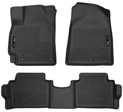 Hyundai Elantra Essential 2017-2020 - Black Front/2nd Seat Floor Liners - Weatherbeater Series