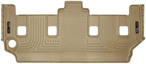 Dodge Grand Caravan Crew Plus With Stow and Go Seats2008-2020 - Tan 3rd Seat Floor Liner - Weatherbeater Series