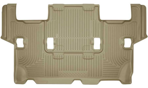 Ford Expedition XLT 2012-2017 - Tan 3rd Seat Floor Liner - Weatherbeater Series