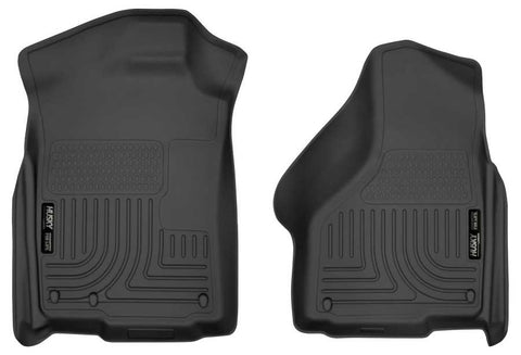 Dodge Ram 1500 SLT Extended Cab;Regular Cab2002-2010 - Black Front Floor Liners - Weatherbeater Series