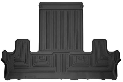 Ford Expedition Max Platinum 2018-2020 - Black 3rd Seat Floor Liner - Weatherbeater Series
