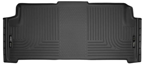 Dodge Grand Caravan 30th Anniversary Edition With Stow and Go Seats2008-2020 - Black 2nd Seat Floor Liner - Weatherbeater Series