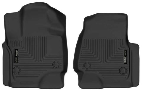 Ford Expedition XL 2018-2020 - Black Front Floor Liners - Weatherbeater Series