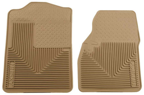 Ford Bronco Eddie Bauer 1980-1996 - Tan Front Floor Mats - Heavy Duty Floor Mat